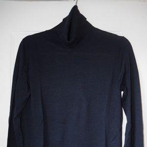 Banana Republic Navy Blue Turtleneck Merino Wool M